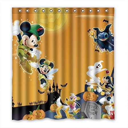 DEYOU Kitchen Mickey Mouse Shower Curtain Polyester Fabric Bathroom Size 66x72 Inch