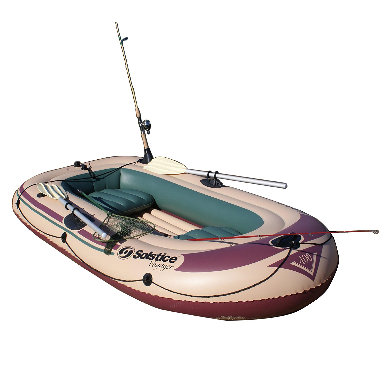 Solstice Swimline Voyager 30400 Inflatable 4 Person Fishing Leisure Boat Raft by Swimline