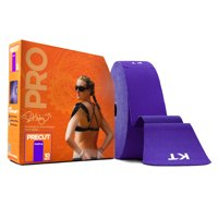 KT TAPE PRO Synthetic Elastic Kinesiology Therapeutic Tape 125 Foot/ 10 inch Strips - Epic Purple