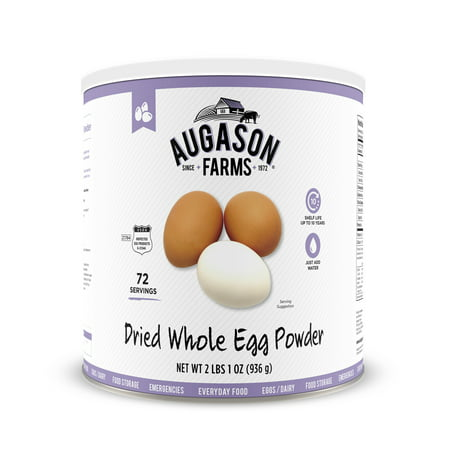 Freeze Dried Buffalo - Augason Farms Dried Whole Egg Powder Certified Gluten Free No. 10 Can