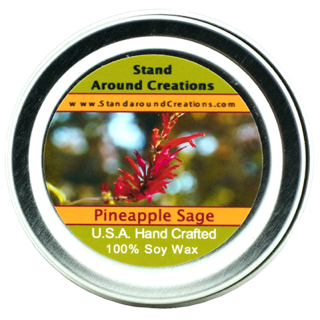 Pineapple Sake - PINEAPPLE / SAGE TIN 2-OZ. ALL NATURAL SOY CANDLE