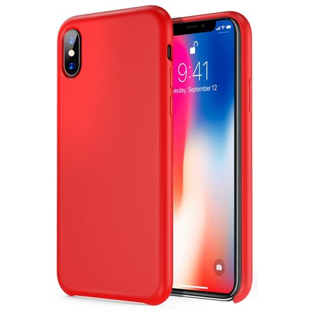 low priced 7f3c9 ece37 iPhone Case for iPhone X Simplemade Liquid Silicone Back Cover Case - Red