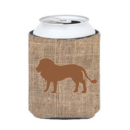 Lion Burlap and Orange Can or Bottle  Hugger - image 1 de 1