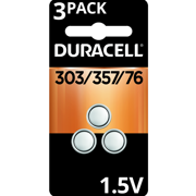 Duracell 1.5V Silver Oxide Battery 303/357 3 Pack