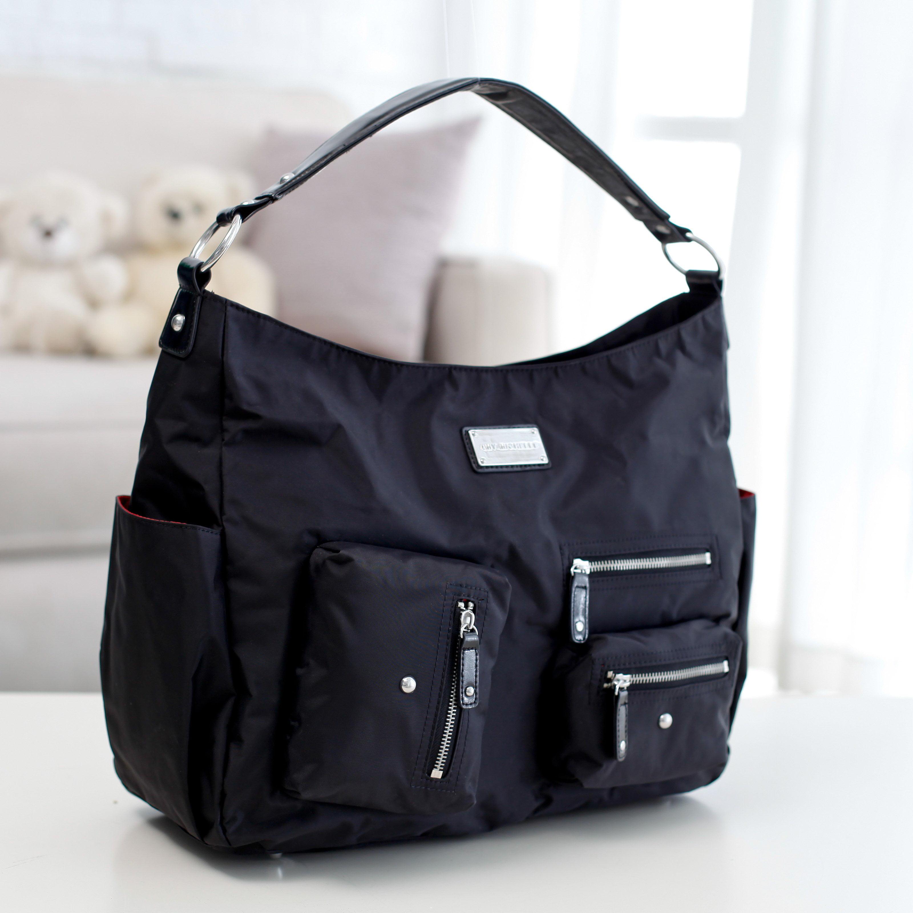 Amy Michelle Lotus Go Bebe Diaper Bag - Black