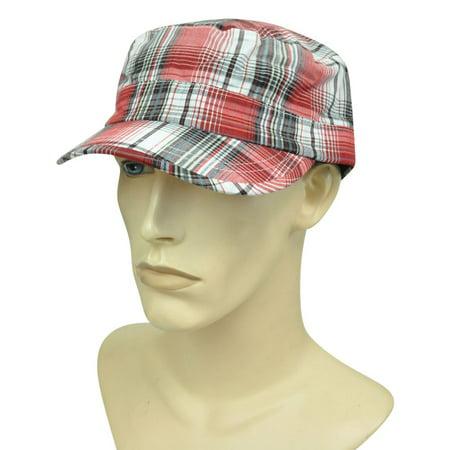 Brand Ole Fatigue Military Cadet Plaid Curved Bill  Garment Wash Hat Cap](Ole Miss Hats)