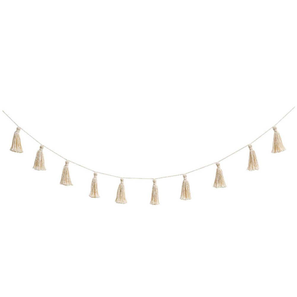 Tassel Garland Ribbon Handmade Tapestry Wall Hanging Cotton Colorful Tassel Banner decorative Wall Tapestry for Home Decoration