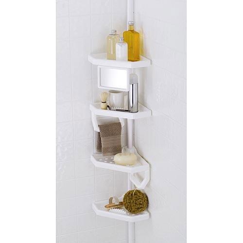 4-Shelf Bathroom Storage Caddy, White