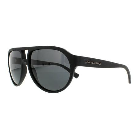 edb2f83152 Armani Exchange - ARMANI EXCHANGE Sunglasses AX 4042S 807887 Matte Black  59MM - Walmart.com