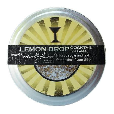 rokz Lemon Infused Cocktail Sugar, 4 ounce