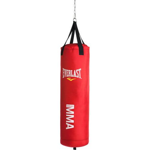 Everlast MMA Polycanvas 70-Pound Heavy Bag, Red