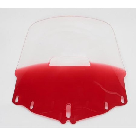 Memphis Shades MEP4882 Gold Wing Windshield - Tall with Vent Hole - Gradient Ruby ()