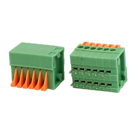 10pcs KF141R 150V 2A 2 54mm Pitch 6P Spring Terminal Block for PCB Mounting