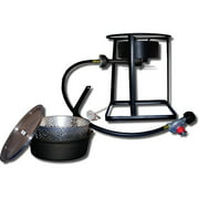 """King Kooker #1650 - 16"""" Portable Outdoor Cooker Package with Cast Iron Dutch Oven"""