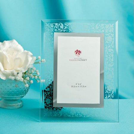 Fashion Craft Etched Floral Design Picture Frame ()