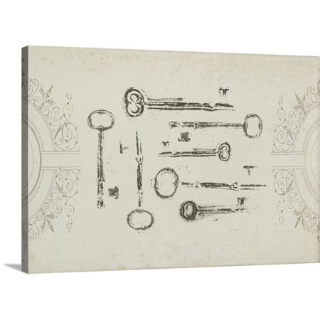 Keepsake Canvas (Great BIG Canvas | Jennifer Goldberger Premium Thick-Wrap Canvas entitled Keepsake Keys)