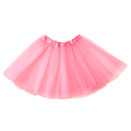 The Elixir Kids Multi Layers Dancing Girls' Tutu Classic Ballet Soft Tulle Skirt Dress up 2-8Y, Pink