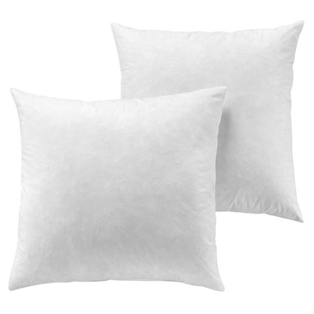 The Great American Store Hand Made Indoor/Outdoor 6D Set of 2 Solid Euro Pillows- White (30