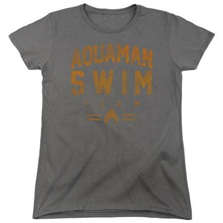 Womens: Aquaman- Swim Team Apparel Womens T-Shirts - Grey](Team Apparel)
