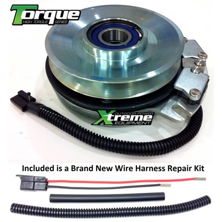 Bundle - 2 items: PTO Electric Blade Clutch, Wire Harness Repair Kit   Replaces Warner 5218-302 Electric PTO Blade Clutch - w/ Wire Harness Repair  Kit