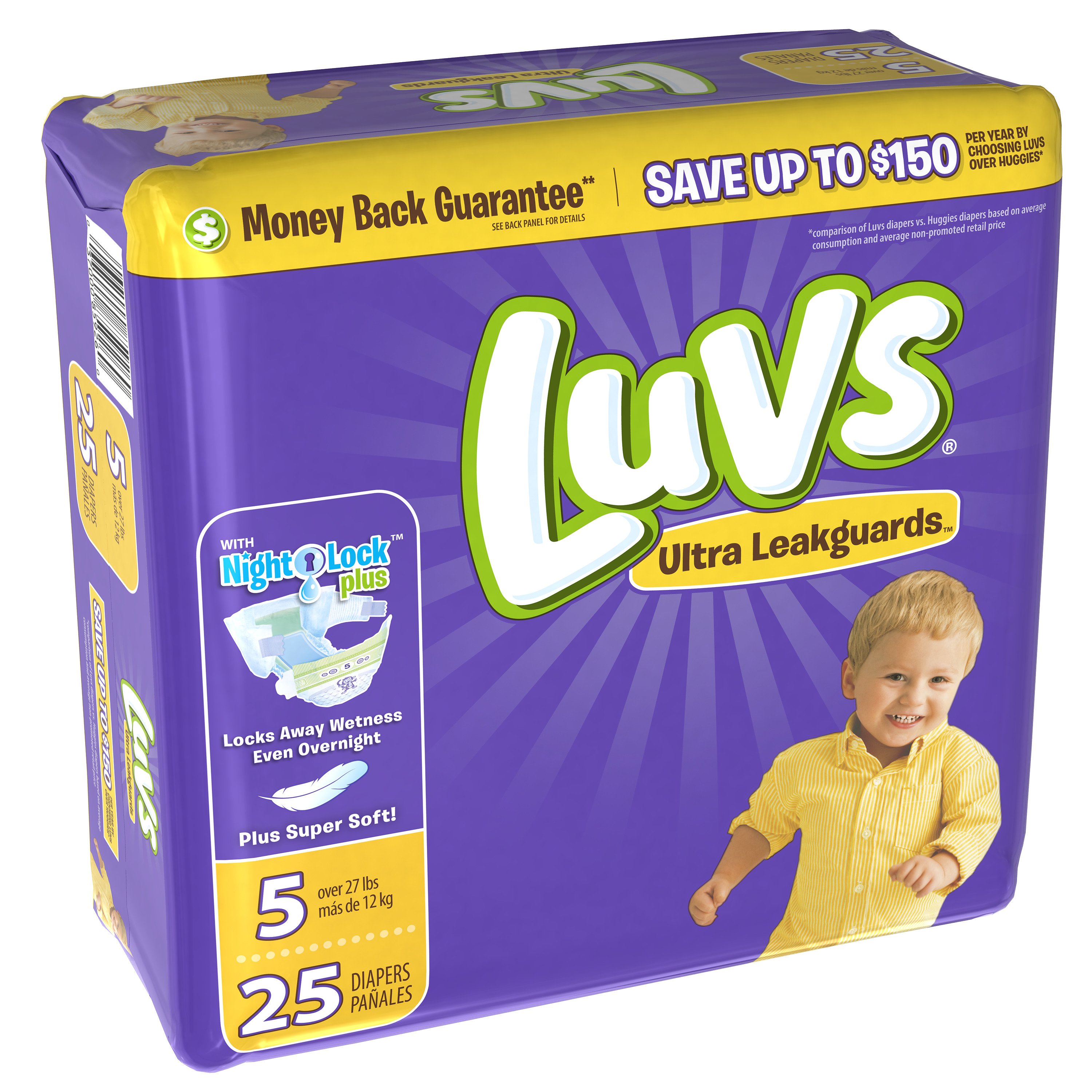 Luvs Ultra Leakguards Diapers Size 5, 25 Diapers