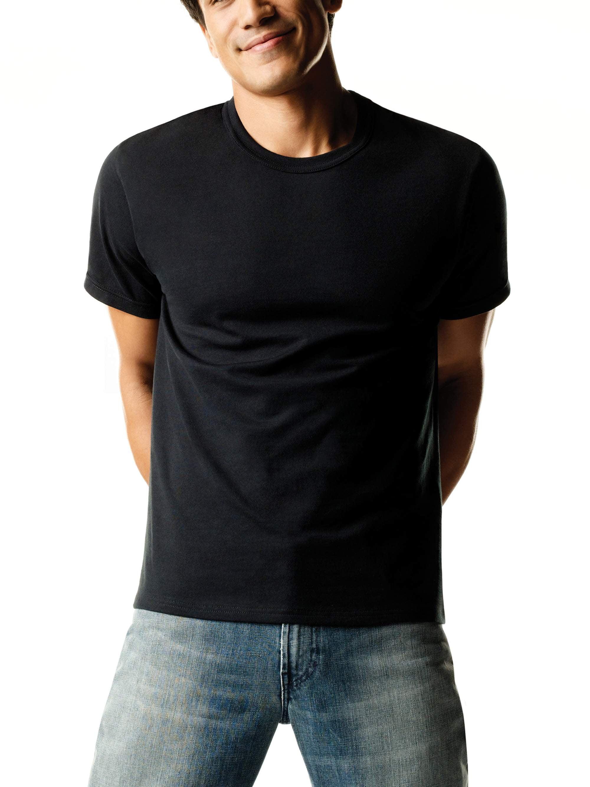 944ed4ba8 Hanes - Men's FreshIQ ComfortSoft Dyed Crew Neck T-Shirt 4-Pack ...