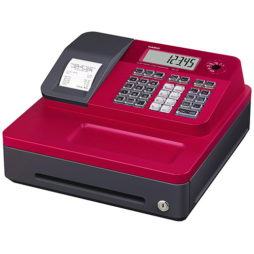 Casio SEG1SC Thermal Print Cash Register, Red