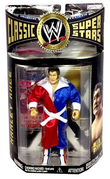 WWE Wrestling Classic Superstars Series 10 Harley Race Action Figure by