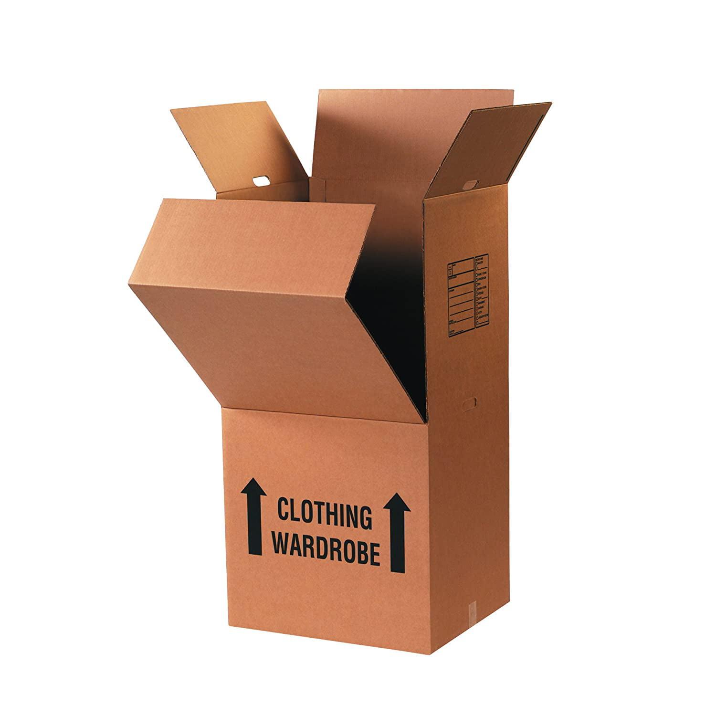"Partners Brand Wardrobe Moving Boxes, 24""L x 20""W x 46""H ..."