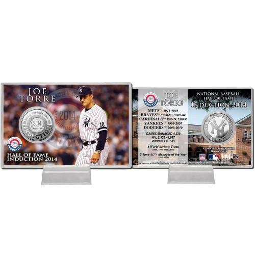 Baseball Hall of Fame Joe Torre Induction Coin Card - No Size