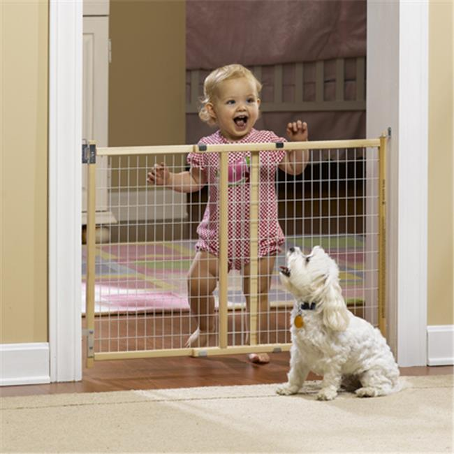 GMI 13-376-10 GuardMaster II 376 Std. Wire Mesh Swing Gate - Top Of Stairs Rated