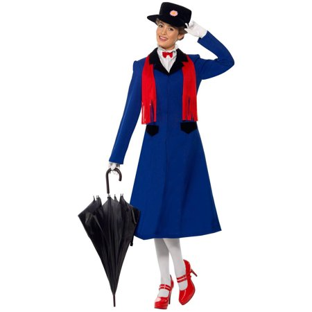 mary poppins women 39 s adult halloween costume. Black Bedroom Furniture Sets. Home Design Ideas