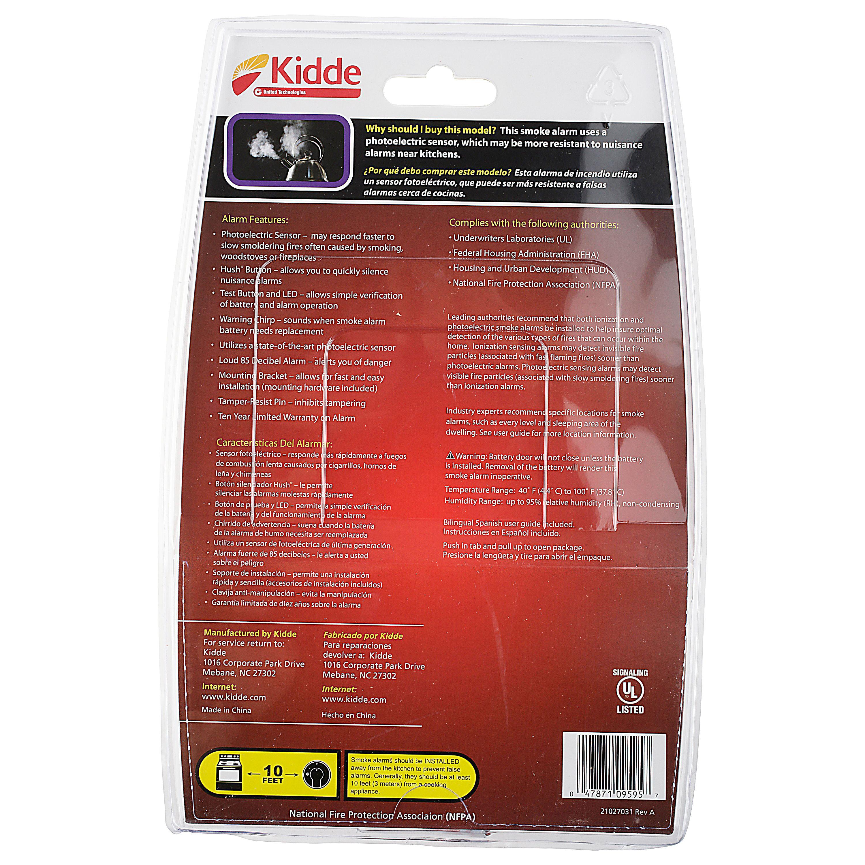 Kidde Battery Operated Photoelectric Smoke Alarm P9050