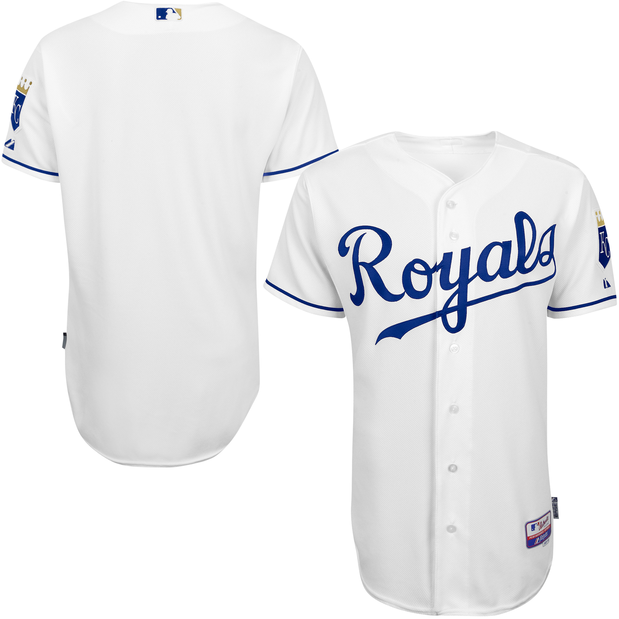 Kansas City Royals Majestic Home 6300 Team Authentic Jersey - White
