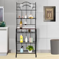 Zimtown 5 Tier Multi-function Baker's Rack, Microwave Stand Kitchen Oven Rack with Wine Shelf