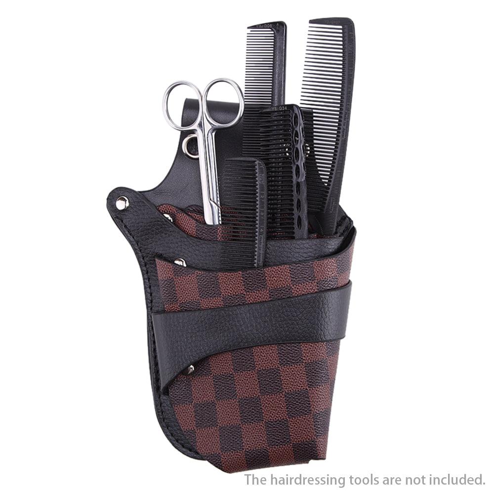 Black Hairdressing Holster Pouch  Waist Belt Scissors Clips Combs Shears Holder