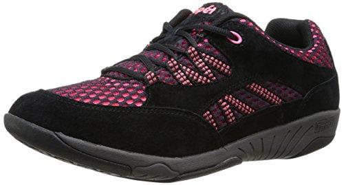 Propet Leila - Rejuve - Women's Rejuve Athletic - Black/Hot Pink