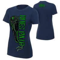 "Official WWE Authentic Randy Orton ""Dues Paid"" Women's  T-Shirt Navy Blue Small"
