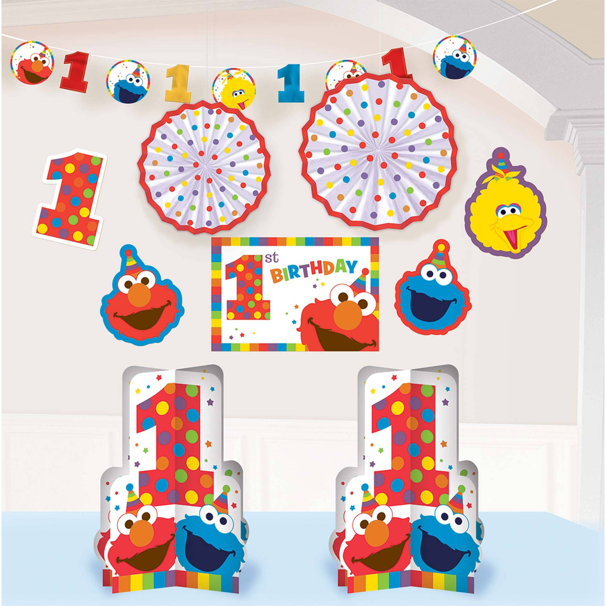 No christmas decorations until after thanksgiving - Elmo Turns One Room Decorating Kit