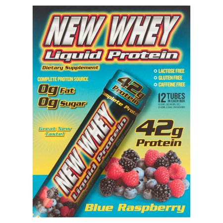 New Whey Protein Drink, 42 Grams of Protein, Blue Raspberry, 3.8 Oz, 12 Ct