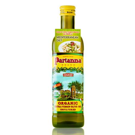 Partanna Organic Unfiltered Extra Virgin Olive Oil, 25.5 fl