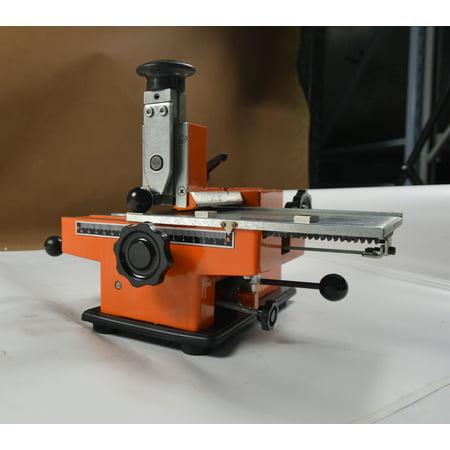 - Semi-automatic Sheet Embosser Metal Stamping Printer Mark Machine