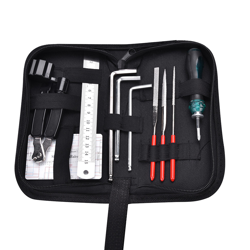 Yosoo Guitar Repair and Maintenance Tools Accessories Kit Portable Bag, Guitar Tools Set,Guitar Files