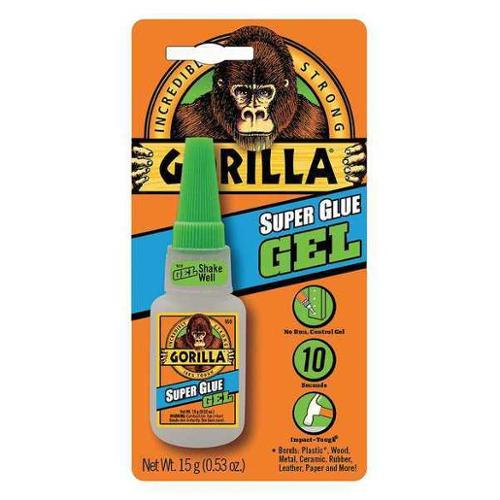 GORILLA GLUE 7600101 Super Glue, Heavy-Duty, Clear, 0.53 oz.