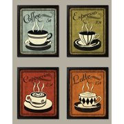 Trendy Extremely Popular Retro Coffee Set By N Harbick Kitchen Decor Four