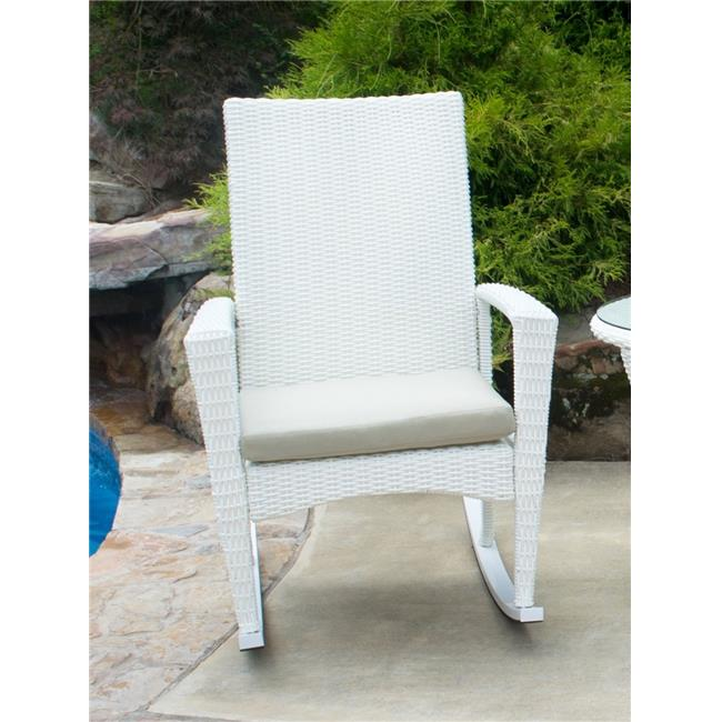 Tortuga BAY-R-MAGNOLIA 40.5 x 35.5 x 28 in. Bayview Rocking Chair - Magnolia