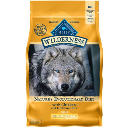 Blue Buffalo Wilderness High Protein Grain Free, Natural Adult Healthy Weight Dry Dog Food, Chicken 4.5-lb