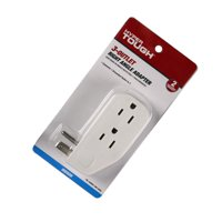 Hyper Tough 3-Outlet Grounded White Right Angle Plug-In Type Wall Tap