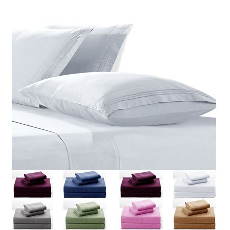 Goldsun 4 Piece (Twin size, Soild Color) Microfiber Bed Sheets Set 2300 Egyptian Collection include (Fitted Sheet, Flat Sheet, Pillowcases) Elastic Deep Pockets, Wrinkle, Fade Resistant (Brown)