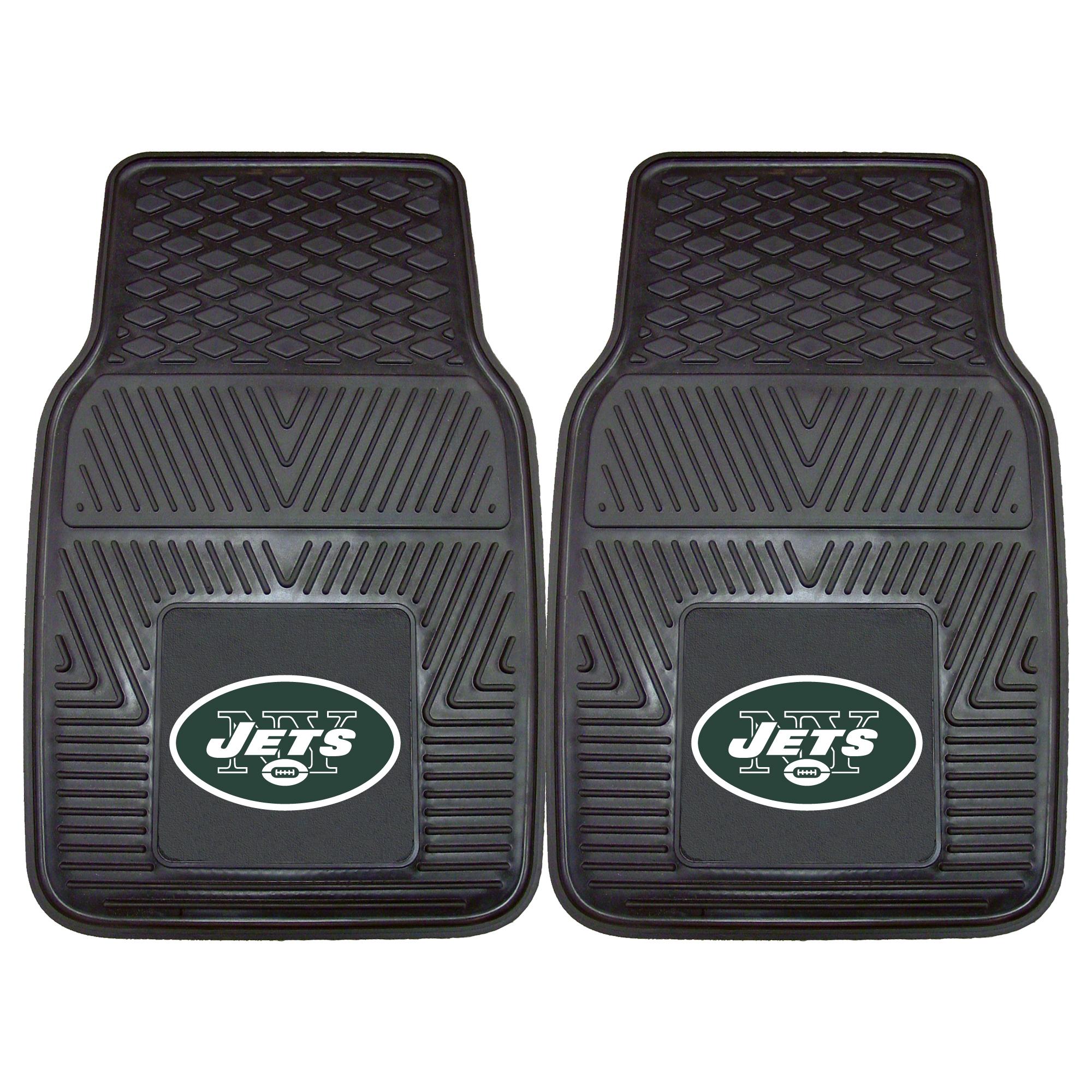 "New York Jets 2-pc Vinyl Car Mats 17""x27"""